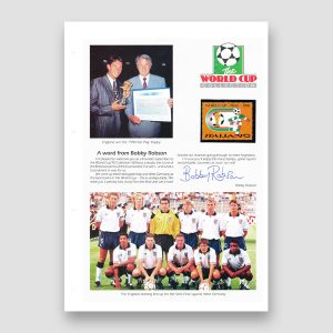 Bobby Robson Signed World Cup Collection Page