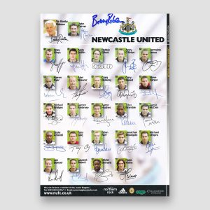 Bobby Robson Signed Newcastle United A4 Autograph Sheet