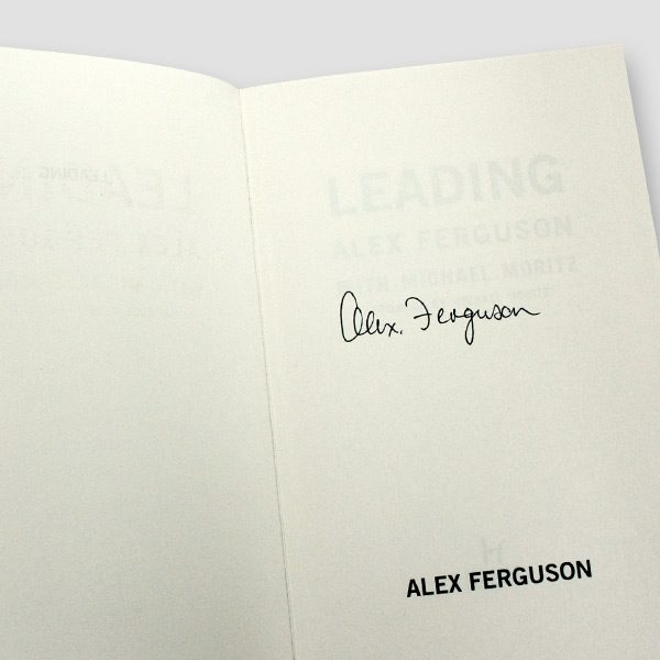 Alex-Ferguson-signed-autobiography-'Leading'