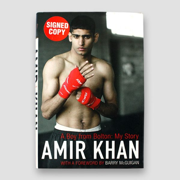Amir-Khan-signed-autobiography-'A-boy-from-Bolton,-My-story'—cover