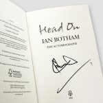 Ian-Botham-signed-autobiography-'Head-on'