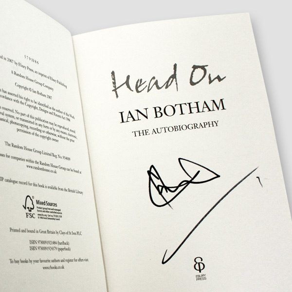 Ian Botham Signed Autobiography 'Head On'