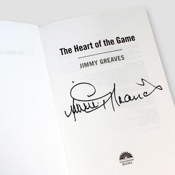 Jimmy Greaves Signed Autobiography 'The Heart Of The Game'