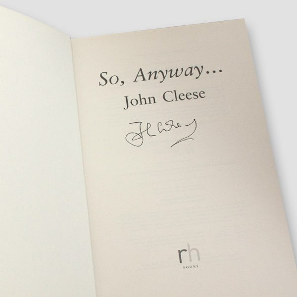 John-Cleese-signed-Autobiography—So-anyway