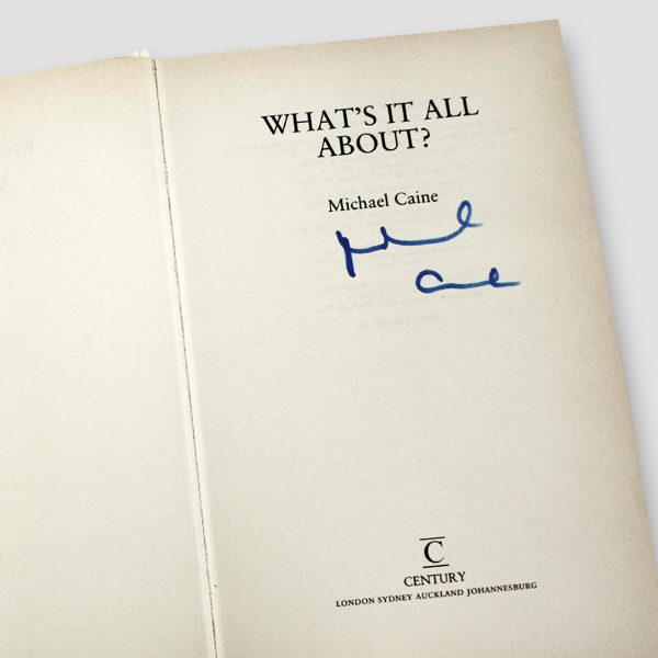 Michael-Caine-signed-autobiography-'What's-it-all-about'