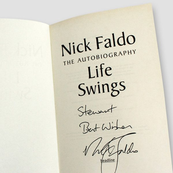 Nick-Faldo-signed-Autobiography-'Life-Swings'