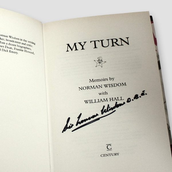 Norman-Wisdom-signed-autobiography—My-turn
