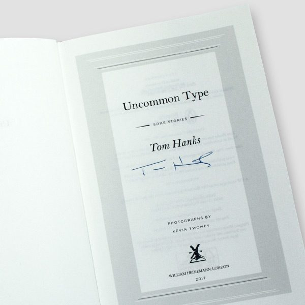 Tom-Hanks-signed-autobiography-'uncommon-type'