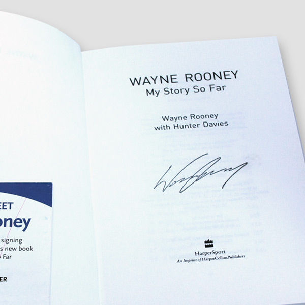 7b847185c Wayne Rooney Signed Autobiography  My Story So Far