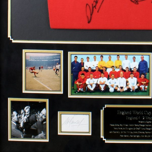 Very 'RARE' England 1966 World Cup Retro Shirt and Photo Display