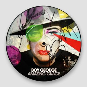 Boy George Signed Culture Club Amazing Grace Picture Disc (7 Inch Vinyl Record)