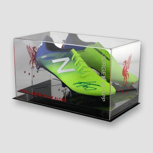Jurgen-Klopp-signed-green-Football-boot-in-a-quality-display-right