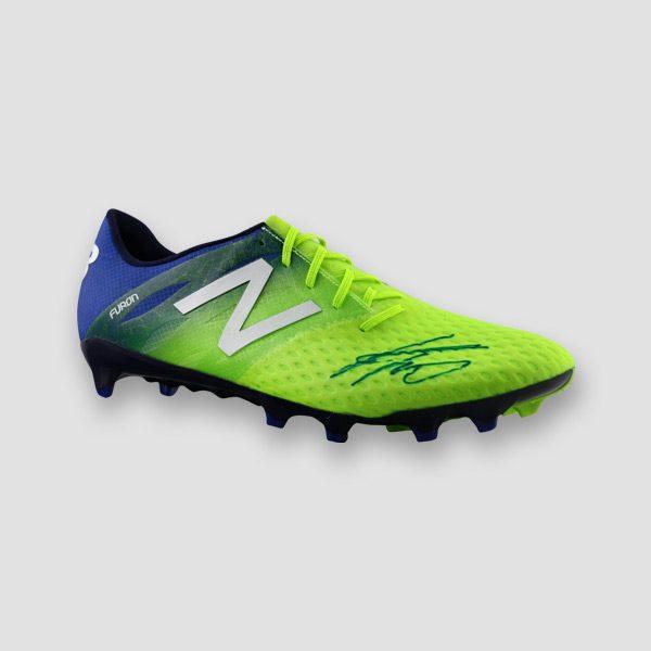 Jurgen-Klopp-signed-green-Football-boot-right