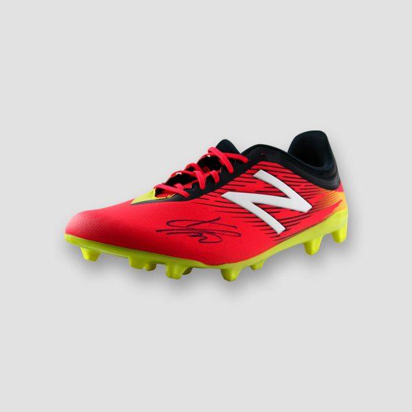 Jurgen-Klopp-signed-red-Football-boot-left