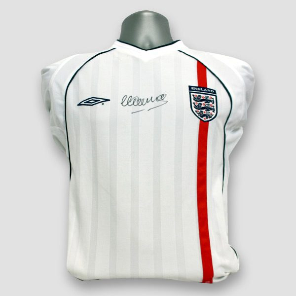 Michael-Owen-signed-England-shirt-from-2001-when-he-scored-hat-trick-beating-Germany-5-1