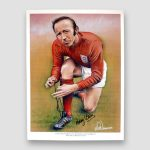 Nobby-Stiles-signed-sketched-print-World-Cup-66-winners