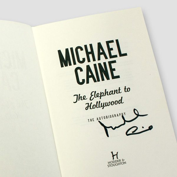 Sir-Michael-Caine-signed-Autobiography-'The-Elephant-to-Hollywood'