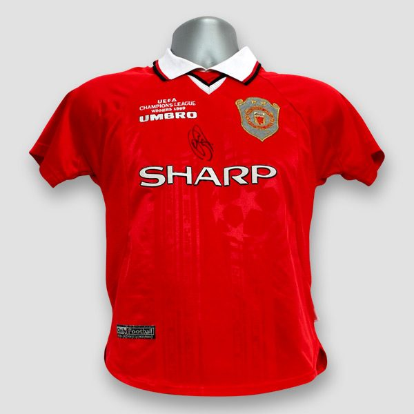 Solskjaer Signed Manchester United Shirt From 1999 UEFA Champions League Final