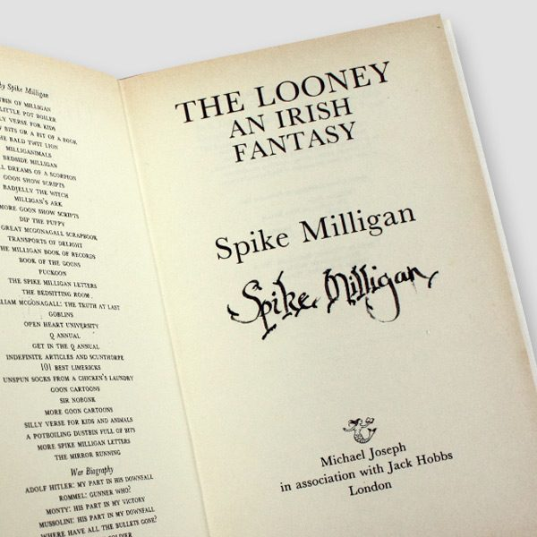 Spike-Milligan-Signed-Autobiography-'The-Looney-an-Irish-Fantasy