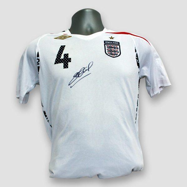 England Football Shirt Personally Hand Signed by Steven Gerrard