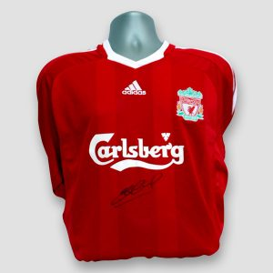 Liverpool FC shirt signed by Steven Gerrard