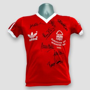 Nottingham Forest European Cup 1979 Winners Original Shirt Signed by 7