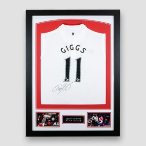 Ryan Giggs Signed Manchester United 2012/2013 Nike Away (Small Boys) Football Shirt MFM Sports Memorabilia