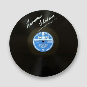 "10"" Record 'Young at Heart' Signed by Norman Wisdom MFM Sports Memorabilia"
