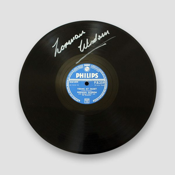 10′-Record-'Young-at-heart'-signed-by-Norman-Wisdom