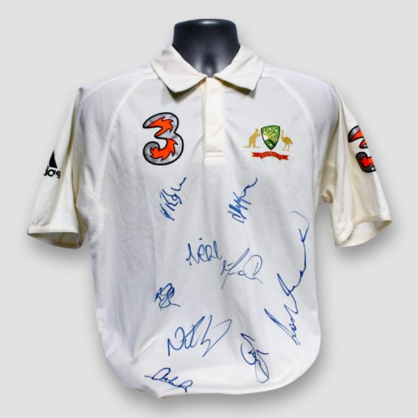 Australia-Cricket-team-Ashes-2006-shirt-signed-by-9