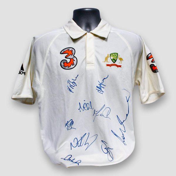 Australia Cricket Team Ashes 2006 Shirt Signed by Nine