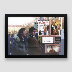 Minder Montage Signed by George Cole and Dennis Waterman MFM Sports Memorabilia