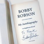 Bobby-Robson-personally-signed-&-dedicated-'To-Frank'–inside