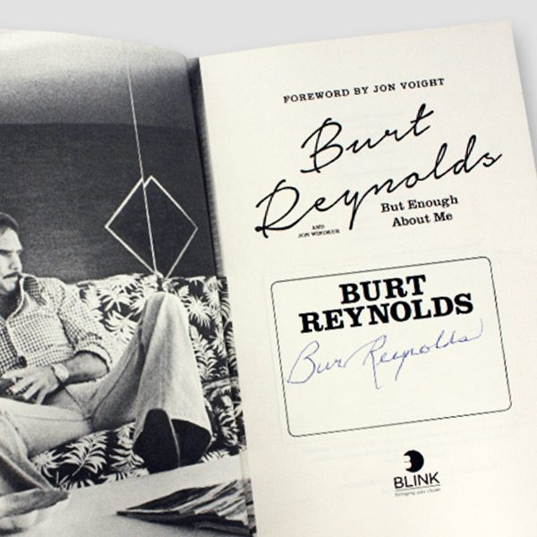 Burt Reynolds personally signed Autobiography 'But enough about me'