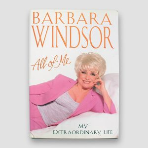 Dame Barbara Windsor signed Autobiography 'All of me' Hardback
