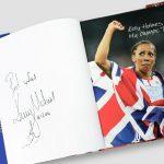 Kelly-Holmes-signed-Hardback-book-'My-Olympic-Ten-Days'-inside