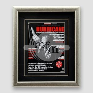Alex Higgins 'Hurricane Higgins' Signed and Framed Picture