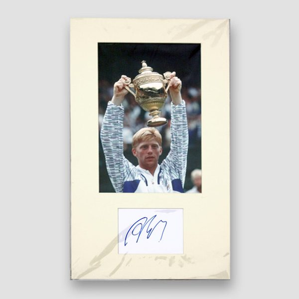 Boris Becker Photo Print Mounted with Autograph