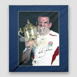 Martin Johnson (Rugby World Cup Captain 2003) Signed Photo MFM Sports Memorabilia