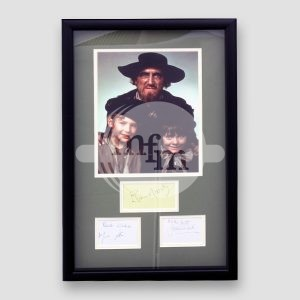 Oliver Twist Musical Cast Photo and Autographs Mounted and Framed of 3 of the Main Cast MFM Sports Memorabilia