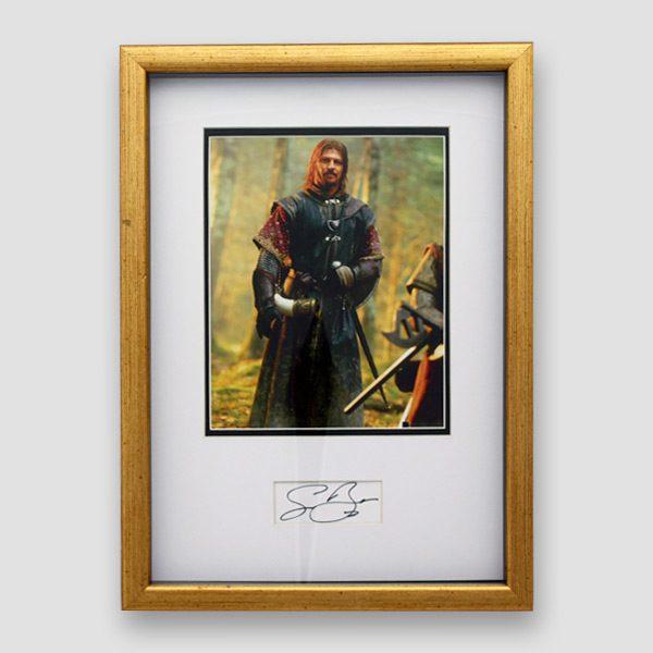 Sean Bean Photo (As Boromir) and Autograph (Framed) MFM Sports Memorabilia