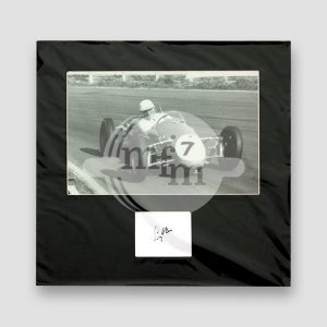 Sir Stirling Moss Photo Mounted With Autograph MFM Sports Memorabilia