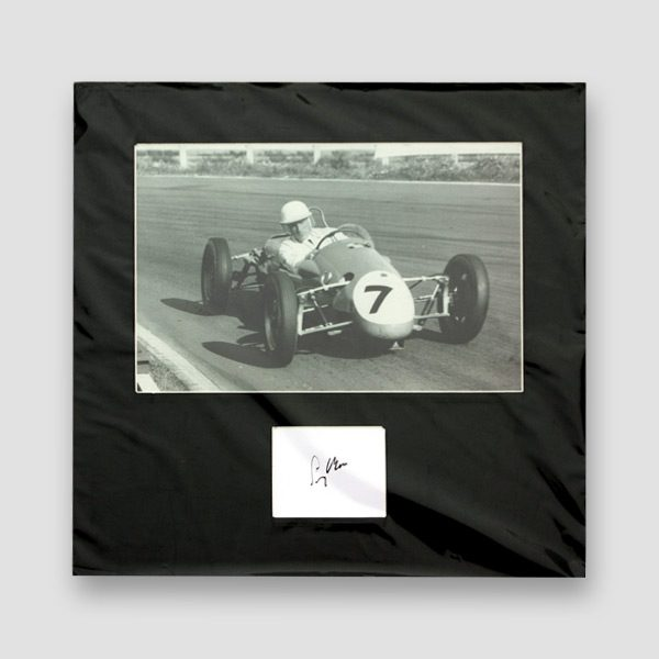 Sir Stirling Moss Photo Mounted With Autograph