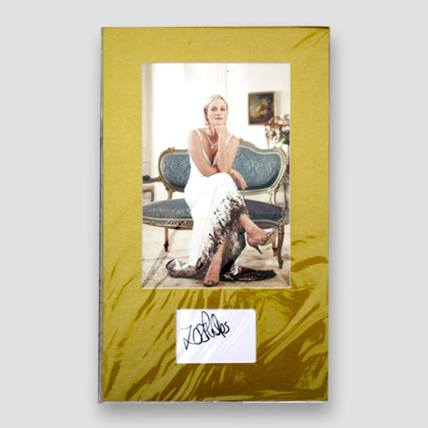 Zara Phillips Photo Print Mounted with Autograph