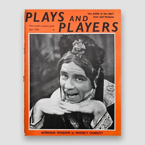 Sir Norman Wisdom Signed Theatre Guide 'Plays and Players' from April 1958