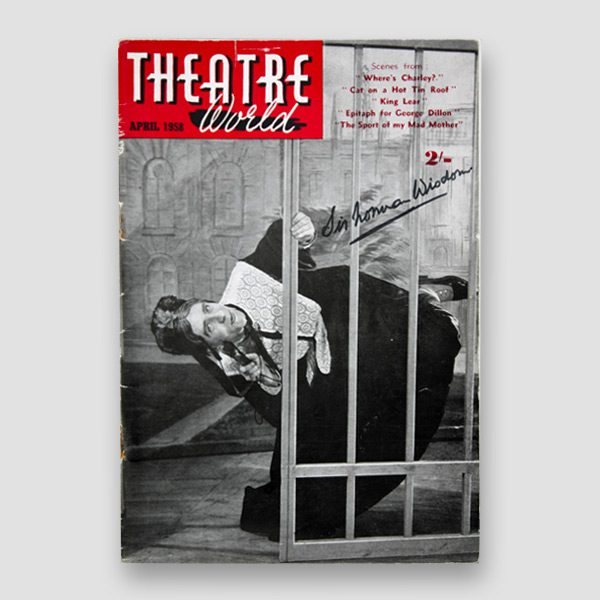 Sir Norman Wisdom Signed Theatre World Magazine