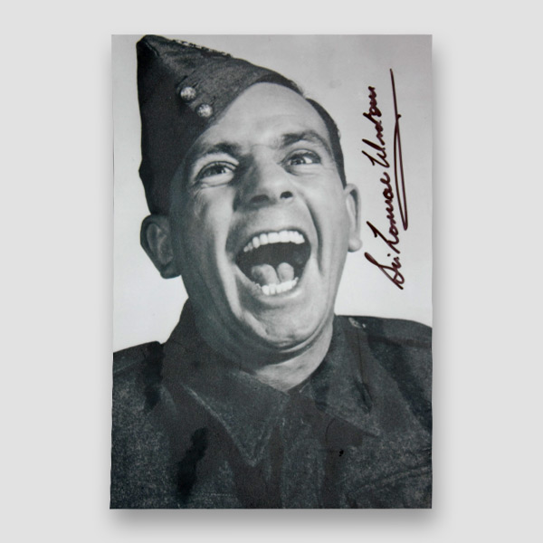 Sir Norman Wisdom Signed Black & White Photograph