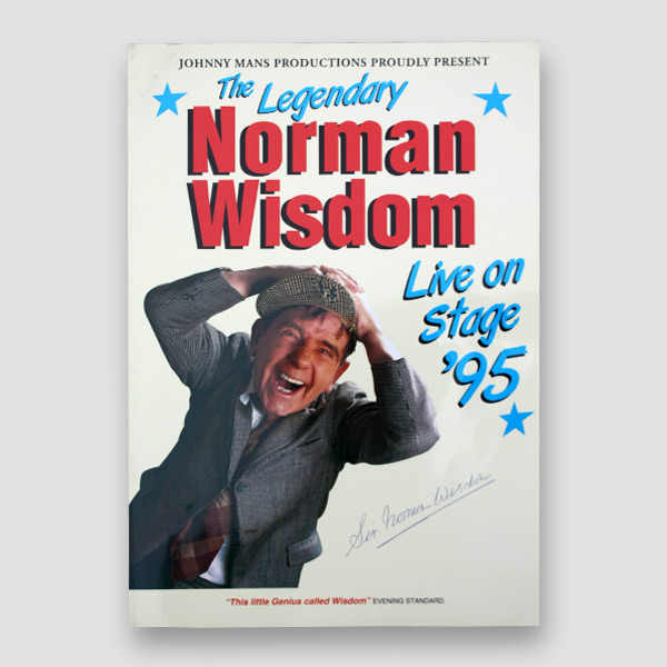 Sir Norman Wisdom Signed Programme 'The Legendary Norman Wisdom' Live on Stage '95