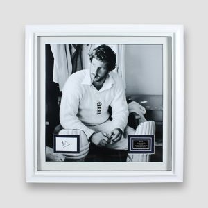Cricket Picture of Ian Botham Professionally Framed with his Signature & Plaque