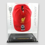 Liverpool-Cap-personally-signed-by-Jurgen-Klopp-In-display-case